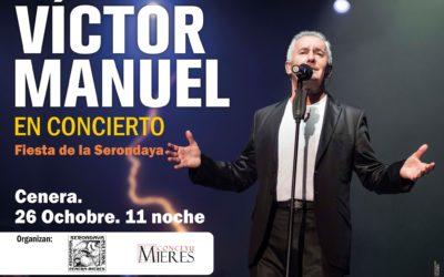26 de octubre Victor Manuel en Concierto.